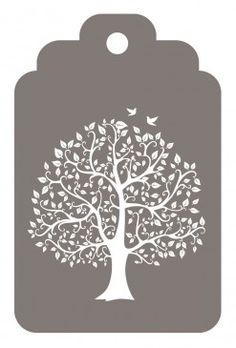 Pack of 12 Gift Tags - Tree Silhouette and Dandelion