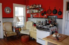 Sitting and reading in the kitchen?  Yes, please!