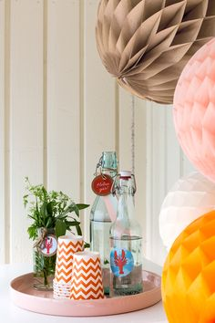 Table decoration ideas for Swedish-style crayfish party