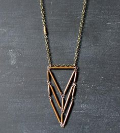 Triple Stack Brass Necklace by Wit & Pepper on Scoutmob Shoppe