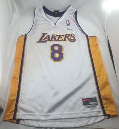 Nike Kid's Lakers Kobe Bryant Jersey 8 Basketball NBA Boy's Sz Large Length 2 | eBay