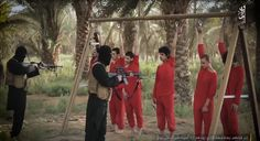 Trump will prevail even further keeping these bastards out of our country! In a horrific clip published by Islamic State in Syria, six people were handcuffed to the horizontal bar of a swingset and executed while one was beheaded.