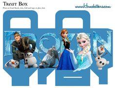 Замороженные: Бесплатные печатные коробки.