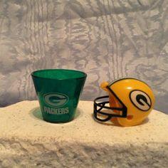 NFL MINI PLASTIC HELMET (2010) & NFL Plastic SHOT CUP (2009) Green Bay Packers #GreenBayPackers