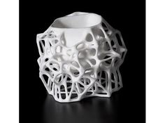 Voronoi Sugar Bowl 3d printed Art Mathematical Art - elaverr