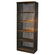 Perforated Steel Bookcase | From a unique collection of antique and modern shelves at http://www.1stdibs.com/furniture/storage-case-pieces/shelves/