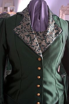 Front of the Victorian inspired riding jacket