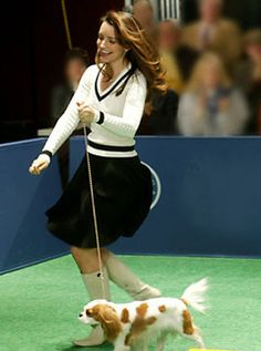 Charlotte York in a Ralph Lauren Skirt and Cable Knit Tennis Sweater