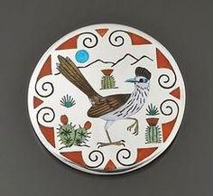 Silver & Inlay Pin/ Pendant by Rudy Laconsello (Zuni)