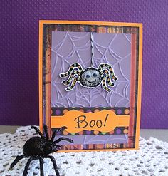 Empty Nest Crafter made a card using  Spider and Boo, large