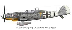 Messerschmitt Bf 109G-6 9./JG3 (Y7+I) Hans Martin Stein 1944 .