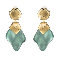 Folded Knot Dangling Clip Earring TEAL BLUE - Alexis Bittar