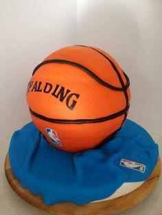 Basketball Cake Cake by sweetstop