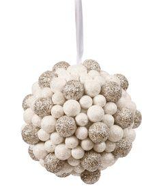 Winward Glitter Snow Ball Ornament