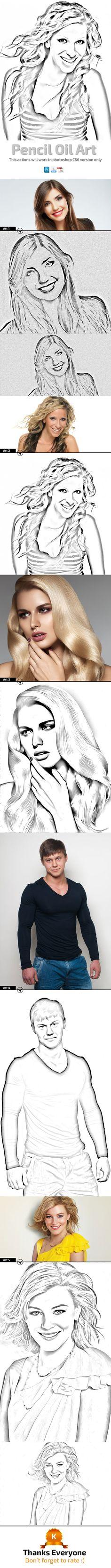 Pencil Oil Art by hazratali2020.deviantart.com on @DeviantArt