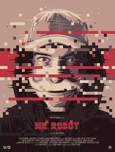 Omaggio posterizzato a Mr Robot per PosterSpy/Amazon UK. #poster #posterdesign