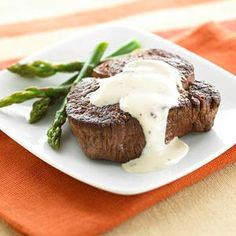 A simple rich sauce using whipping cream and broth, makes this peppery steak recipe perfect for special occasions or entertaining.