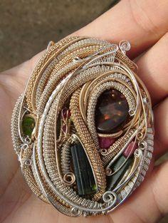 ©Patrick Koppelberger #wirewrap #jewelry #wirewrapjewelry
