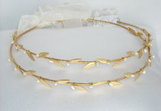 Ancient Greek Style Gold Plated Stefana - Wedding Crowns