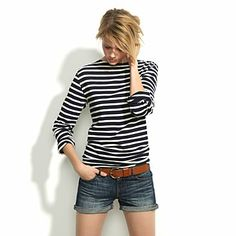 Summer uniform. Can't wait. BTW, it has become my sister's responsibility to keep me from buying more stripes.