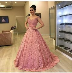 A-Line Wedding Dresses Collections Overview 36 Gorgeou… Princess Prom Dresses, A Line Prom Dresses, Lace Evening Dresses, Ball Gown Dresses, Homecoming Dresses, Formal Dresses, Dress Lace, Pretty Dresses, Beautiful Dresses