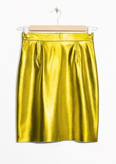 & Other Stories | Leather Skirt in Yellow