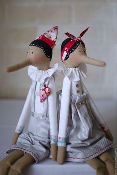 Pinocchio Tilda Dolls | Купить Пиноккио. Пара - тильда, Пиноккио, пара, вместе, любовь, День Святого Валентина, годовщина