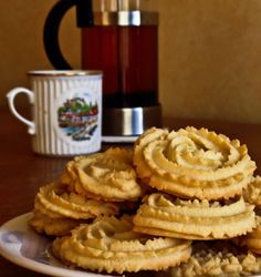 European Butter Cookies It's January, so what's up with a Christmas cookie recipe? It is traditional to associate Spritz with holiday c. Spritz Cookies, Lego Friends, Biscotti, Christmas Cookies, Cookie Recipes, Sweet Tooth, Sweets, Vegan, Recipes