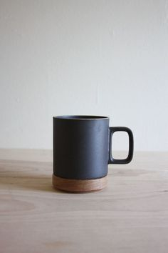 Porcelain and wood hasami mug. Jesus this is my wet dream of mugs