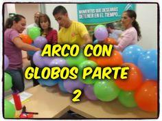 Revoltosos Recreaciones Realiza: Cursos Decoración Basica !!! Arco con Globos !!!