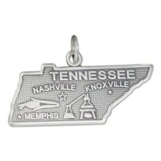 Sterling Silver State Charm Necklace