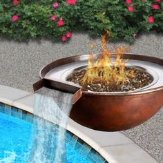 Tempe copper fire and water bowl