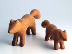 Sculpted Wooden Animals at Romp