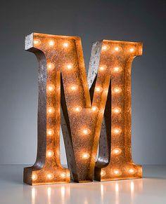 Vintage Industrial Metal Marquee Lights