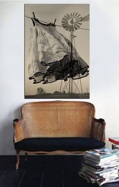 Love this print! Modern Prairie.. art trends dress on clothesline art