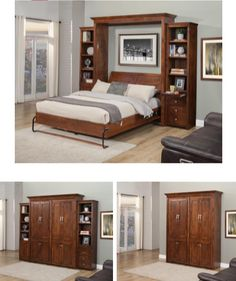 This Florence wallbed is one of many styles available. It saves space and looks great when folded up. For more info on the Florence and… Space Saving Bedroom, Modern Murphy Beds, Bed Wall, Folded Up, Sofa Bed, Florence, Bedroom Furniture, Ideas, Home Decor