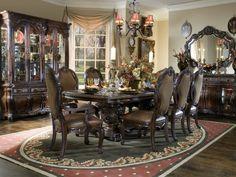 стол, люстра, Интерьер, зеркало, комнота, дом, стулья