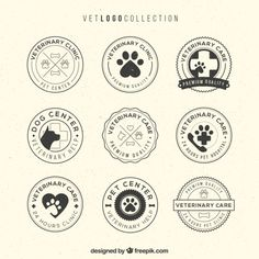 Vet logo collection Free Vector