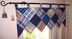 My patchwork curtain
