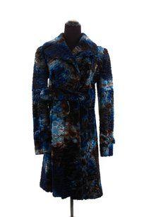 Fendi Silk Faux Fur Trench Coat