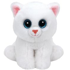 Ty Beanie Boos Regular - Pearl Cat White Beanies Soft Toy New