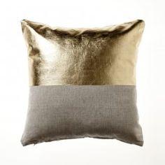 Home Republic Metallicus Cushion Gold, cushions, gold cushion