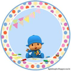 Kit Imprimible GRATIS Pocoyo First Birthday Decorations, Birthday Party Themes, Baby Box, 1st Birthdays, Baby Decor, Party Printables, 3rd Birthday, Tinkerbell, Flamingo