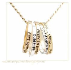 Reminder rings to charms. See this adorable collection at: www.monogramandcompany.com