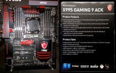 MSI stellt X99S Gaming 9 ACK Mainboard vor