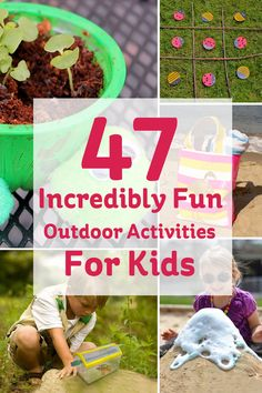 "Finally! It's that time of year when you spend more time outdoors than in. Now you can say ""yes"" to those activities you said ""no"" to all year because they were too messy for, well, anywhere with walls. Kids will love these ideas for outdoor play, and so will you,..."