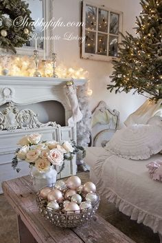 30 shabby chic christmas decorating ideas all about christmas christmas help pinterest shabby chic christmas shabby and 30th