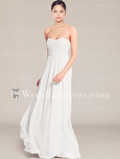 Chiffon beach wedding dress is a great style for an informal or destination wedding.