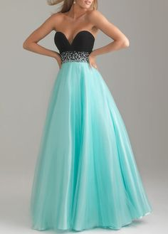 Light Blue Chiffon Strapless Maxi Dress