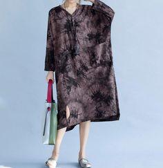 Women romantic Loose fitting Long dress fashion Women by MaLieb